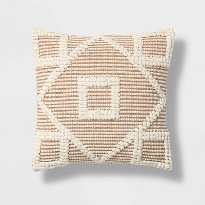 Diamond Square Throw Pillow Neutral/Cream - Opalhouse™