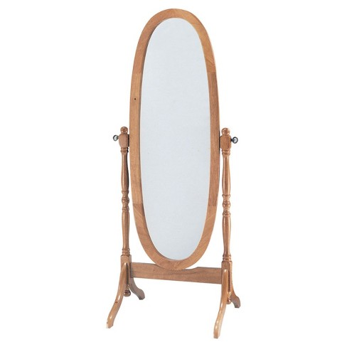 Cheval Mirror Acme Furniture Oak - image 1 of 2