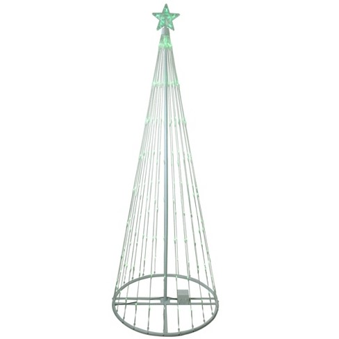 Northlight 9' Green LED Lighted Show Cone Christmas Tree Oudoor Decoration - image 1 of 4