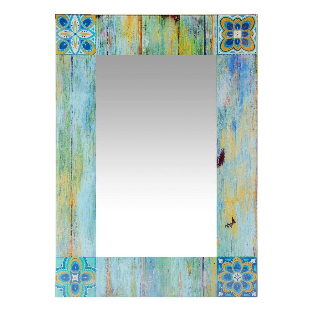 "Image of ""Country Mosaic 27.5"""" X 19.75"""" Wall Mirror - Infinity Instruments"""