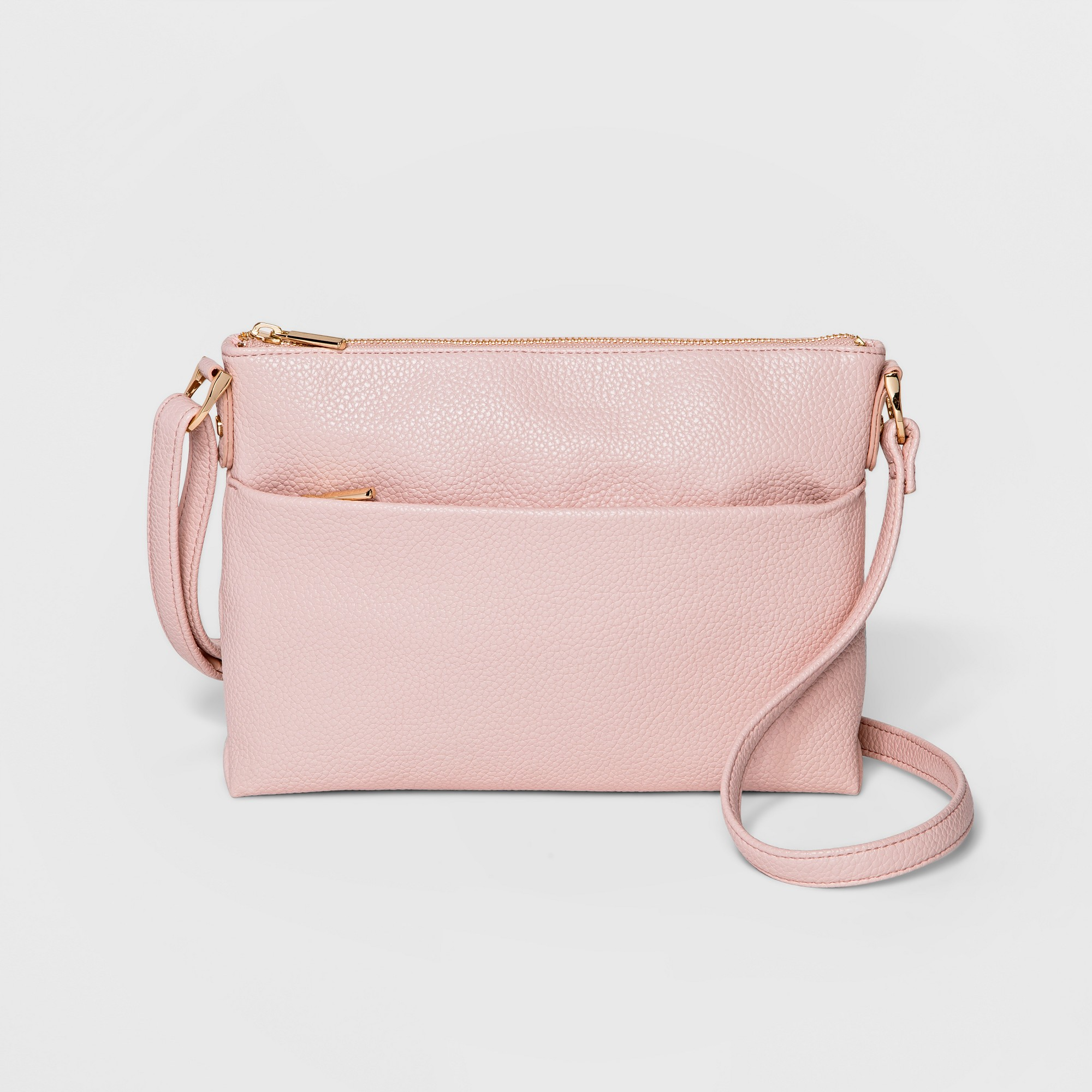 Value Flat Crossbody Bag - A New Day Blush, Women's