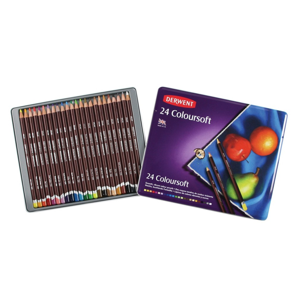 Image of Colored Pencil Set - Derwent Coloursoft 24ct