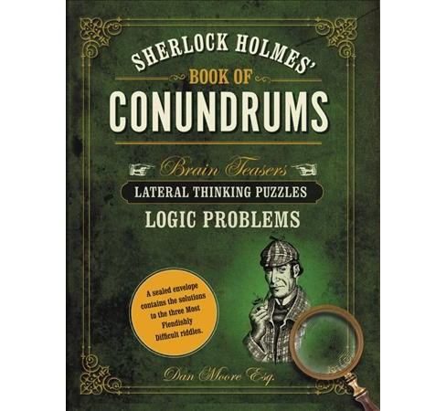 Sherlock Holmes' Book of Conundrums -  by Dan Moore (Hardcover) - image 1 of 1