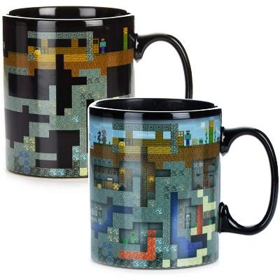 Paladone Products Ltd. Minecraft XL Oversized 18.5oz Heat Change Ceramic Mug