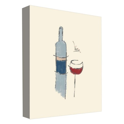 "Vino I Decorative Canvas Wall Art 11""x14"" - PTM Images - image 1 of 1"