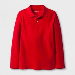 Boys' Adaptive Long Sleeve Polo Shirt - Cat & Jack™ Red