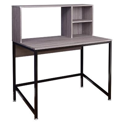 Ora Desk with Hutch - Black/Gray - Buylateral