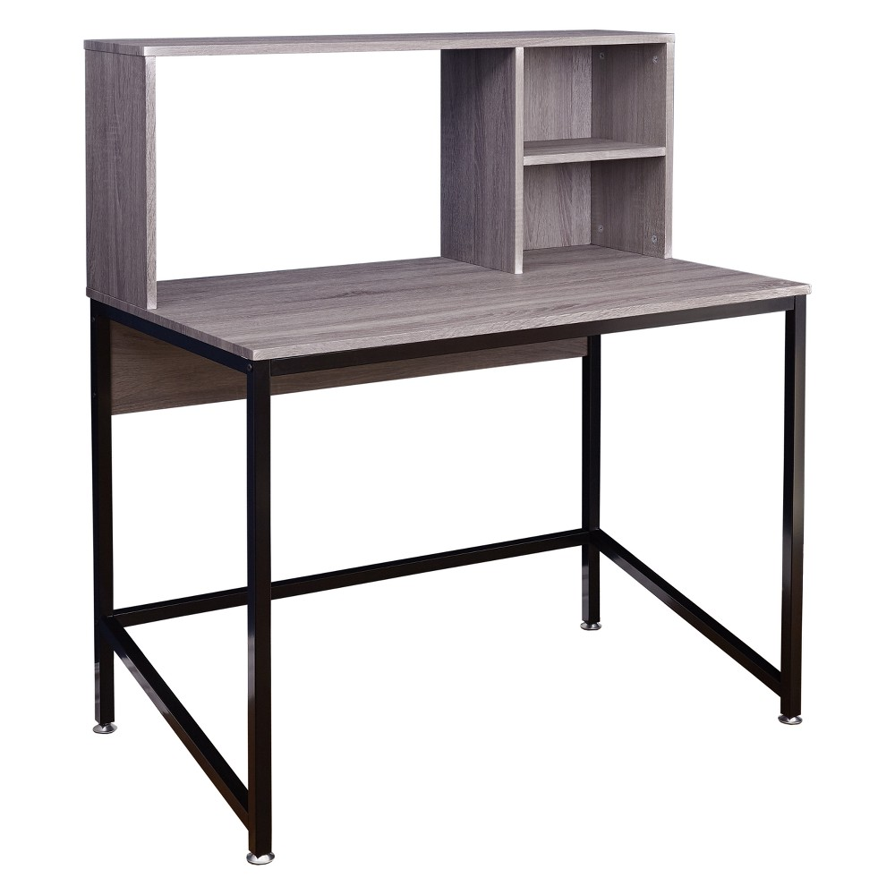 Image of Ora Desk with Hutch - Black/Gray - Buylateral