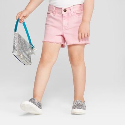 Toddler Girls' Jean Shorts - Cat & Jack™ Pink Rose 2T