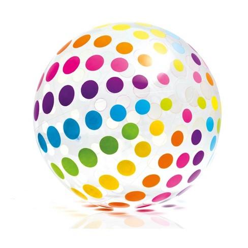 Intex Jumbo Inflatable Glossy Big Polka-Dot Colorful Giant Beach Ball | 59065EP - image 1 of 4