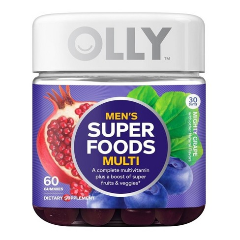 Olly Men's Super Foods Multivitamin Gummies - Mighty Grape - 60ct - image 1 of 4