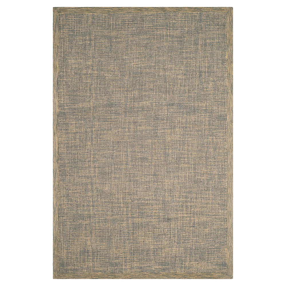Gold/Gray Abstract Tufted Area Rug - (6'X9') - Safavieh