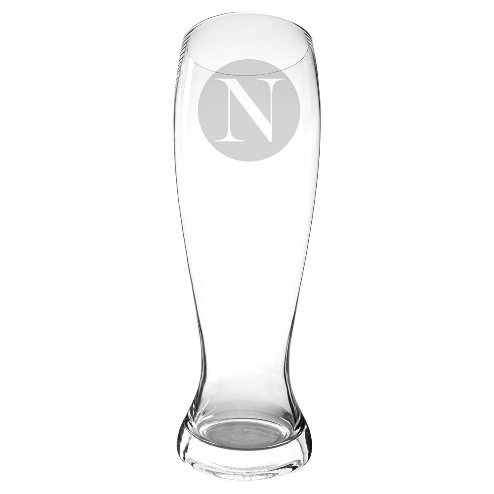 Monogram 54 oz. Novelty Groomsmen Gift Beer Pilsner Glass XL Drinkware - N, Clear - N
