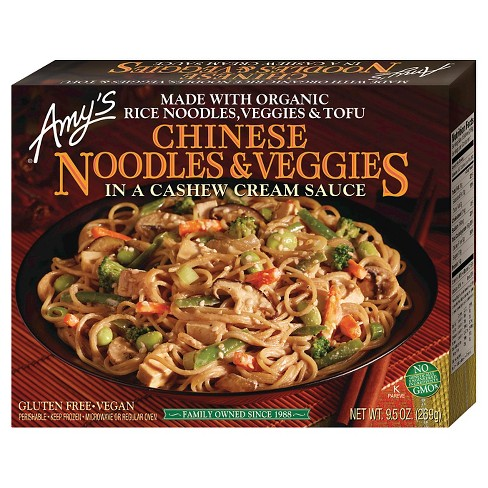 Amy's Chinese Noodles with Frozen Veggies in a Cashew Cream Sauce - 10oz - image 1 of 2