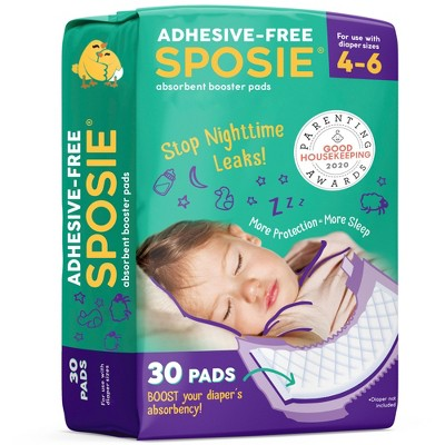 Sposie Booster Pads For Overnight Diaper Leak Protection - (Select Size and Count)