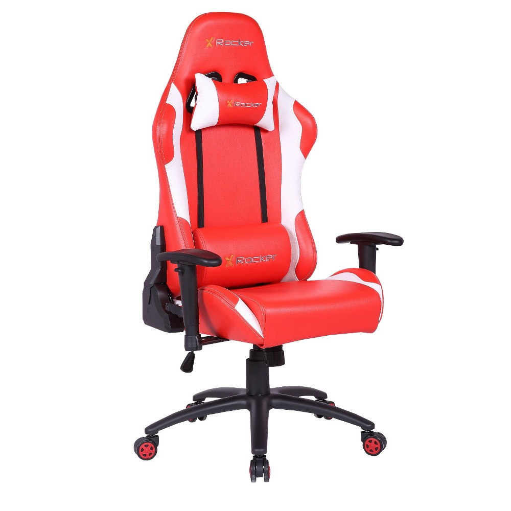 Image of 2D Agility PC Gaming Chair Red/Black - X Rocker, Red Black