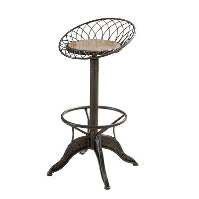 32  Grayson Adjustable Weathered Barstool Brass - Christopher Knight Home