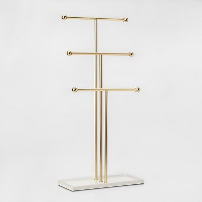 Trigem Jewelry Storage Stand Brass - Umbra