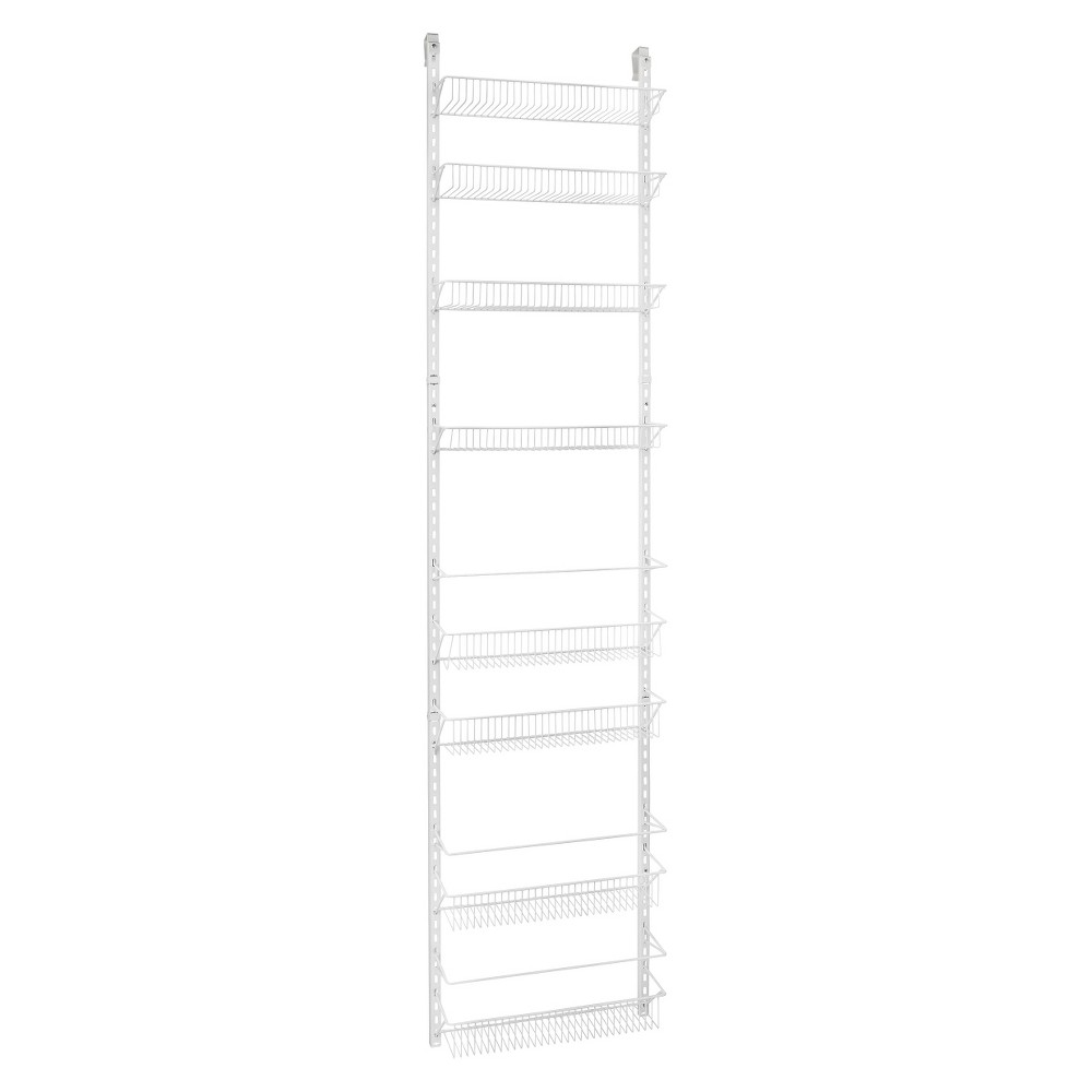 Image of ClosetMaid 8-Tier Over-the-Door Adjustable Wire Rack - White