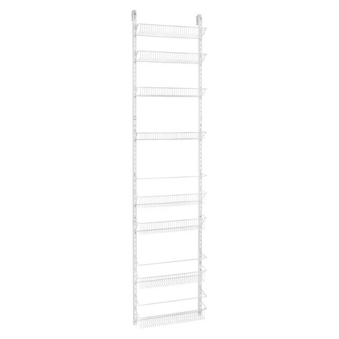 Closetmaid 8 Tier Over The Door Adjule Wire Rack White