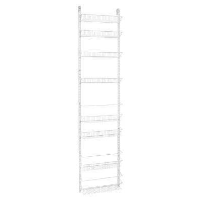 ClosetMaid 8 Tier Over The Door Adjustable Wire Rack   White