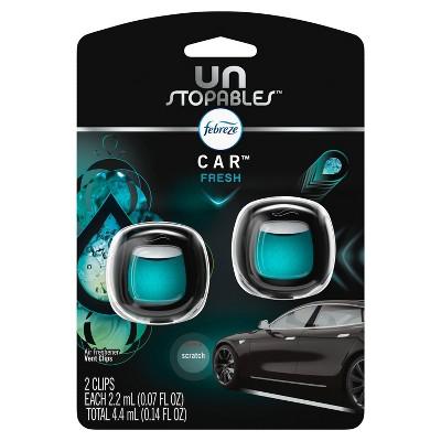 Febreze Car Odor-Eliminating Air Freshener Vent Clips, Fresh Scent - 2ct