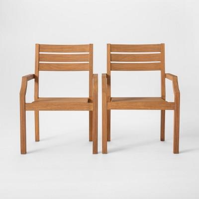 Chesapeake 2pk Wood Patio Dining Chair - Threshold™