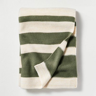 Color Block Stripe Throw Blanket - Hearth & Hand™ with Magnolia