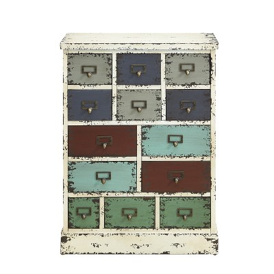 Garrick Distressed 13Drawer Cabinet - Powell Company