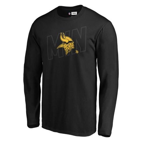 NFL Minnesota Vikings Men's Tridcode Metallic Logo Long Sleeve T-Shirt - Black - image 1 of 3