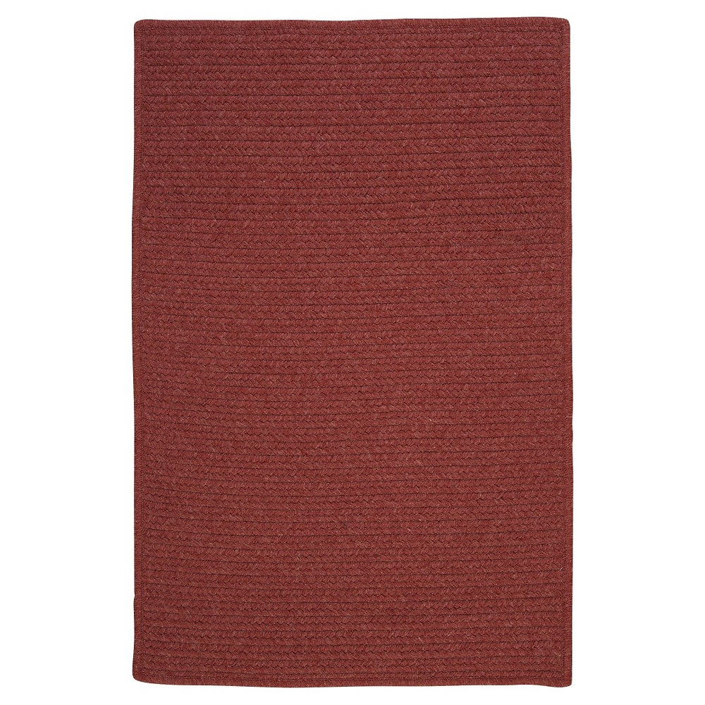 Westminster Wool Blend Braided Area Rug - Rosewood - (10'x13') - Colonial Mills
