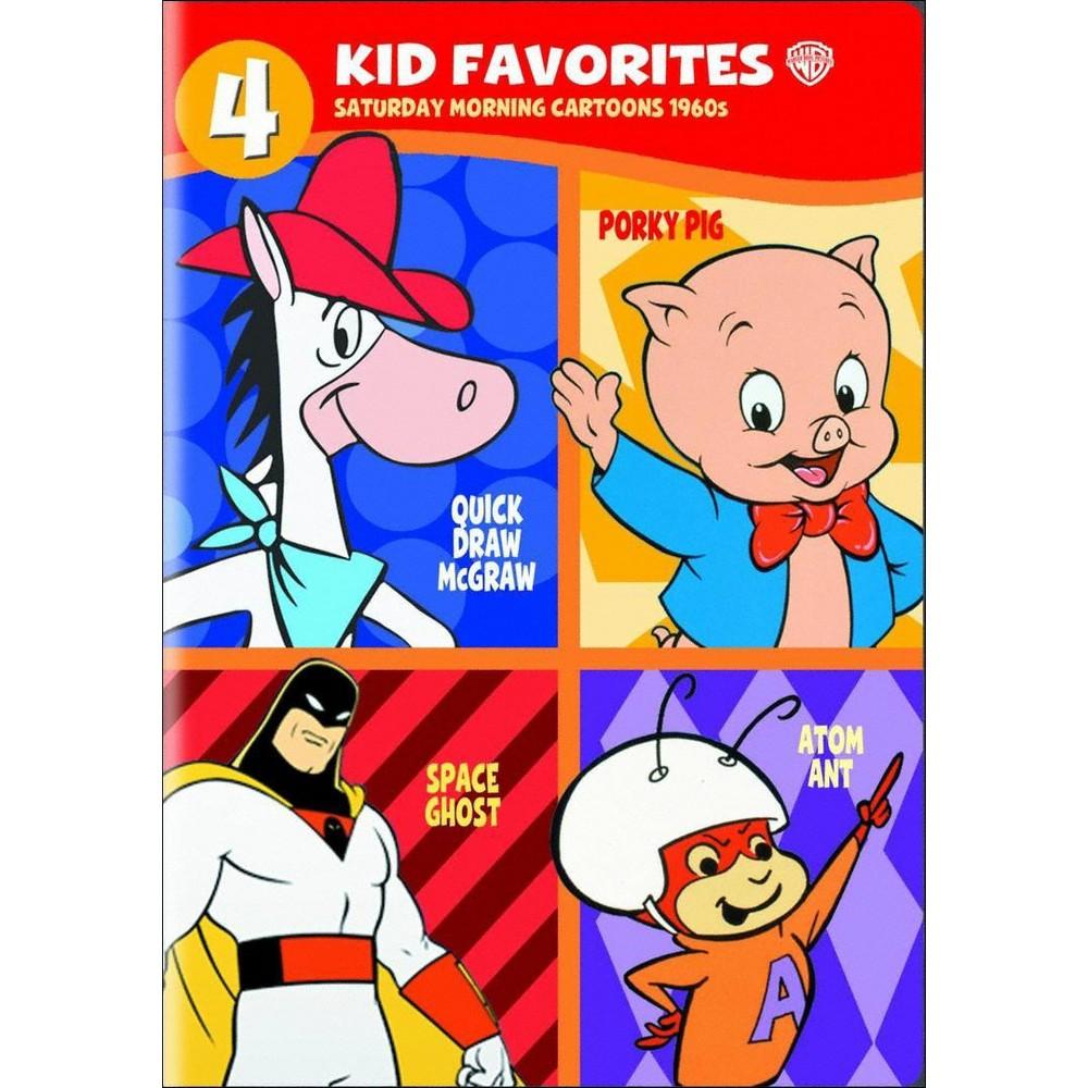 4 Kid Favorites: Saturday Morning Cartoons 1960s (2 Discs) (dvd_video)