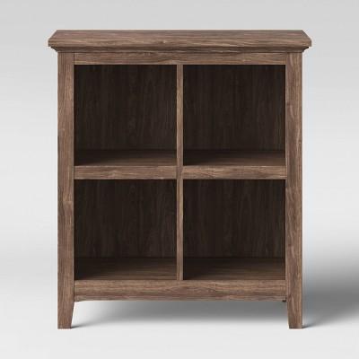 """37.2"""" Carson 4 Bin Organizer Bookcase Walnut - Threshold™"""