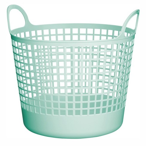 Like-It SCB-1 Midcentury Modern Scandinavian Style Round Durable Plastic Storage Basket for Storage and Organization, Mint Blue - image 1 of 4
