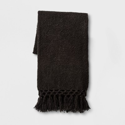 Throw Blanket Solid Black - Opalhouse™