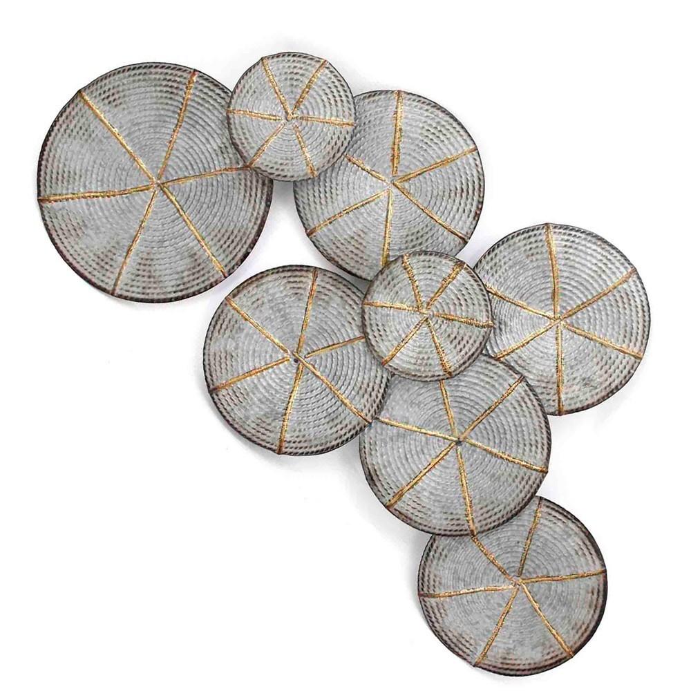 22.1 Rope Wound Decorative Wall Art Silver - StyleCraft