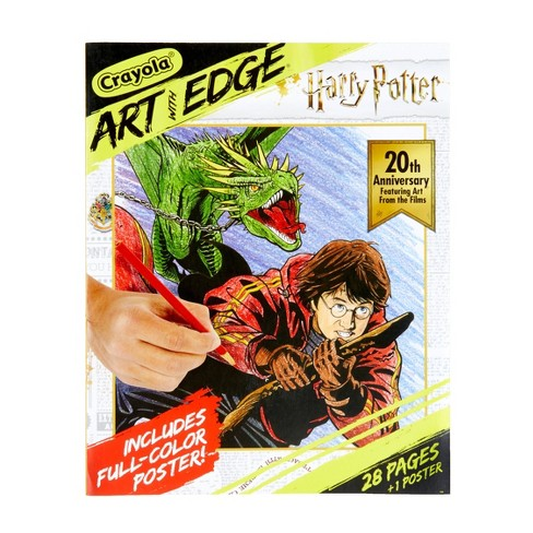 Crayola Art with Edge Coloring Book - Harry Potter with Poster - image 1 of 4