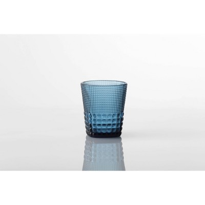 11.5oz 6pk Crystal Malcolm Double Old Fashion Glasses Blue - Fortessa Tableware Solutions