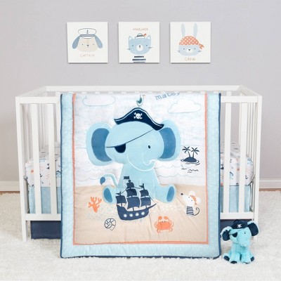 Sammy & Lou Crib Bedding Set - Ahoy Archie 4pc
