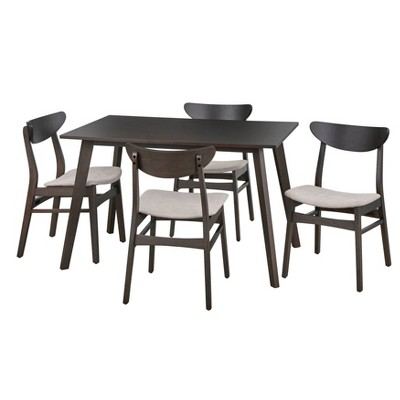 5pc Parlin Dining Set Walnut - Buylateral