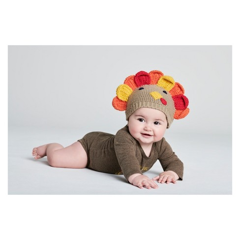 Babys  Thanksgiving Turkey Hat - Just One You® Made By Carter s Beige One  Size   Target 4f3002a7d32