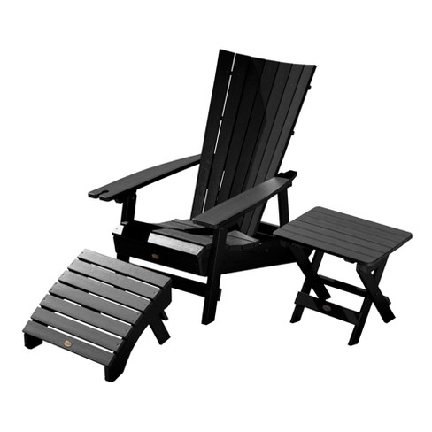 Manhattan Beach Adirondack Patio Chair with Side Table, Ottoman & Wine Glass Holder - highwood - image 1 of 4