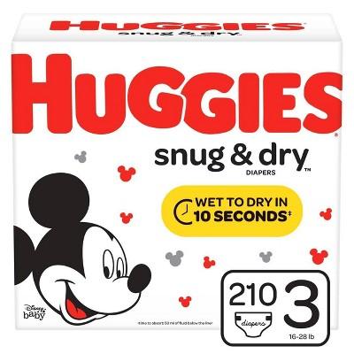 Huggies Snug & Dry Diapers - Size 3 (210ct)