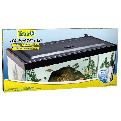 Tetra LED Hood 24 Inches By 12 Inches, Low-Profile Aquarium Hood With Hidden Lighting