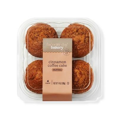 Cinnamon Coffee Cake Muffins - 14oz/4ct - Favorite Day™