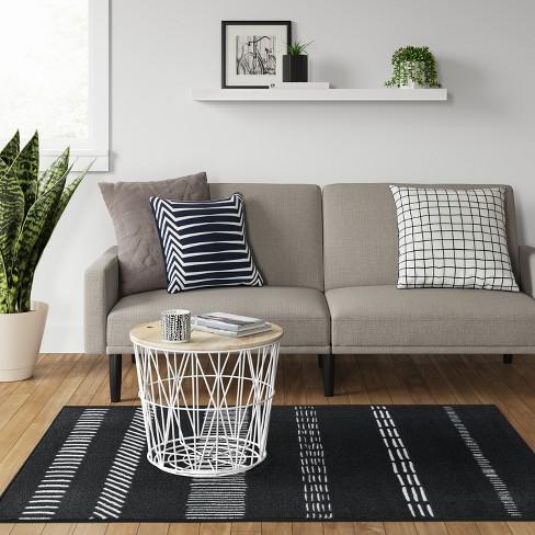 4 X5 6 Multi Striped Tufted Accent Rug Black White Room Essentials Target