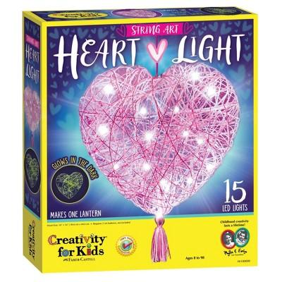 Creativity for Kids String Art Heart Light Craft Kit