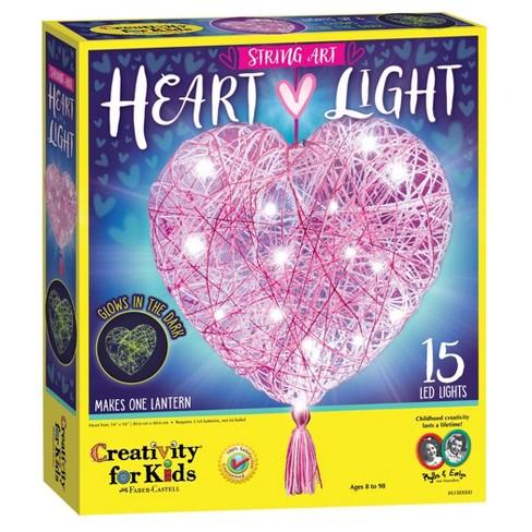 Creativity for Kids String Art Heart Light Craft Kit - image 1 of 4