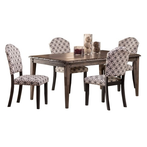 Lorient 5pc Dining Set with Upholstered Chair - Washed Charcoal - Hillsdale Furniture - image 1 of 2