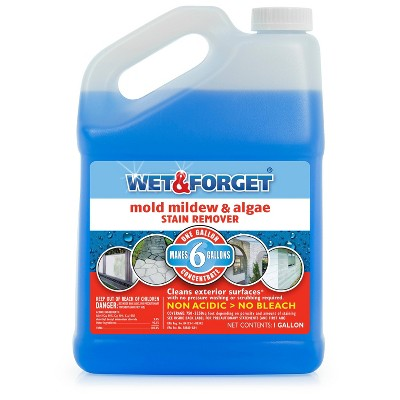 Wet & Forget Mold Mildew & Algae Stain Remover - 1 Gallon
